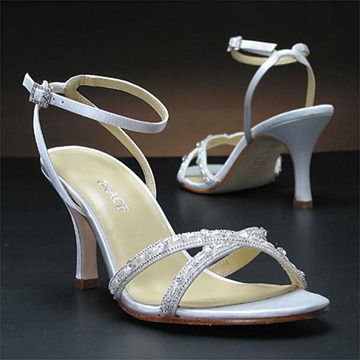 beautiful bridal shoes grace