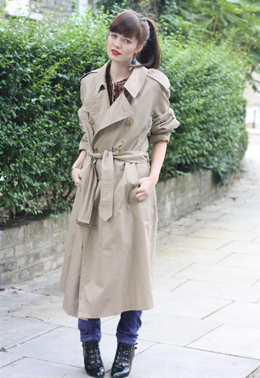 80's Trench Coat, £35, Bohemian Rose Vintage