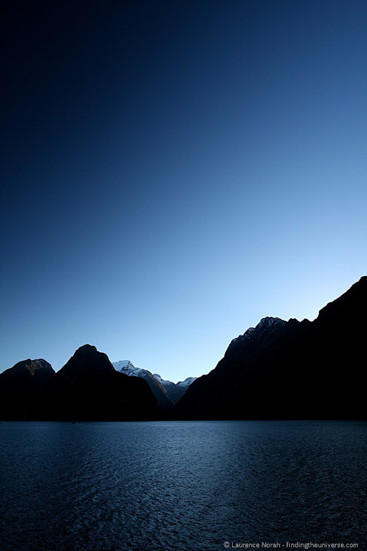Milford Sound Silhouette