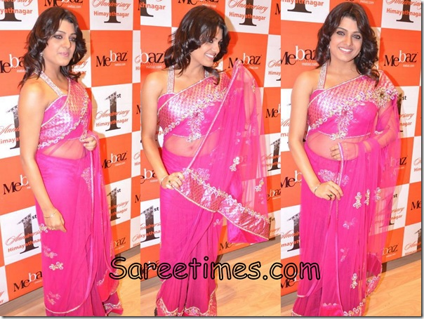 Tashu_Kaushik_Pink_Designer_Saree