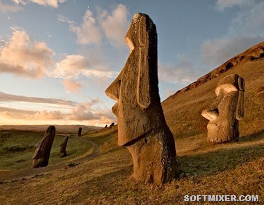 Далекие мастера вырубали «моаи» на склонах вулкана Рано-Рораку