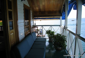 Another view of the suite balcony