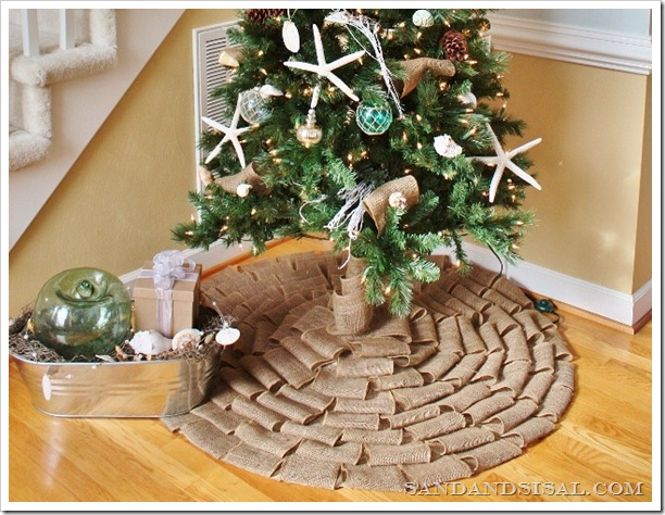 No Sew Burlap Tree Skirt