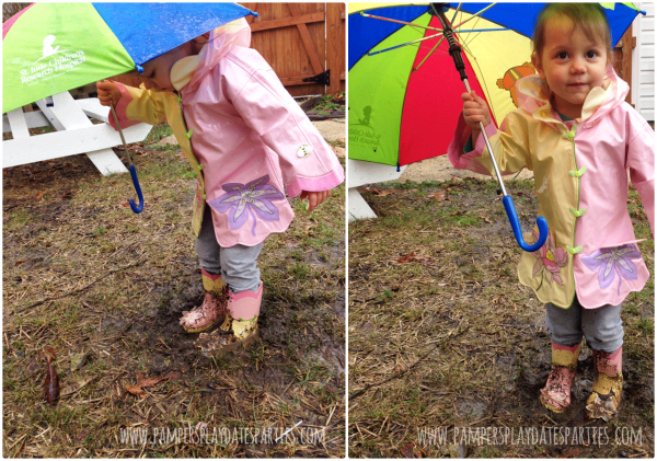 Welcome Spring Jumping in Puddles C3