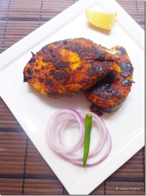 Pan fry fish with indian spices recipe