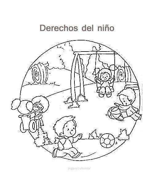 Dibujos de los derechos del niño para pintar - Actividades para ...