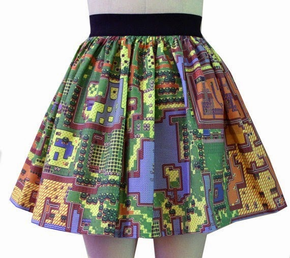 Legend of Zelda Full Skirt from Go Follow Rabbits on Etsy