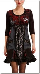Desigual Red and Black Empire Dress