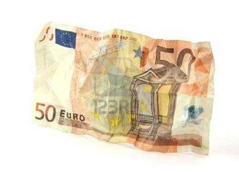 50 euros arrugados