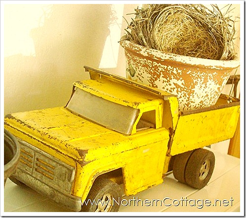 northern cottage yellow truck
