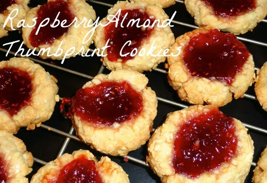 Raspberry Almond Thumbprint Cookies 3