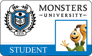Terri Perry Monsters University Student Identification Card