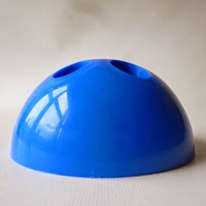 blue plastic desk organizer front