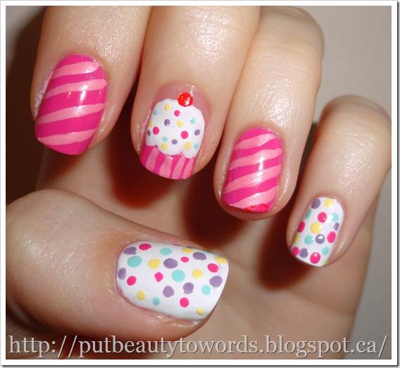 Cupcake Nails: Writing Beauty: Cupcake Nails