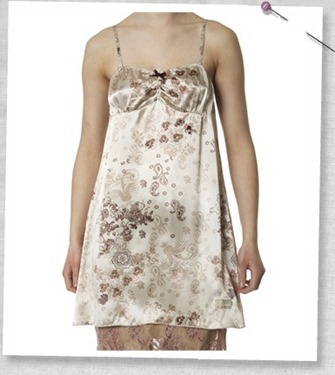 # 162  A-one silk camisole long print winter white