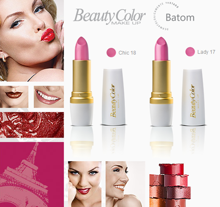 Batons rosados da Beauty Color: Chic e Lady.
