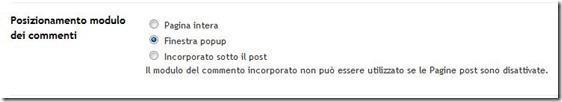 modulo commenti blogger