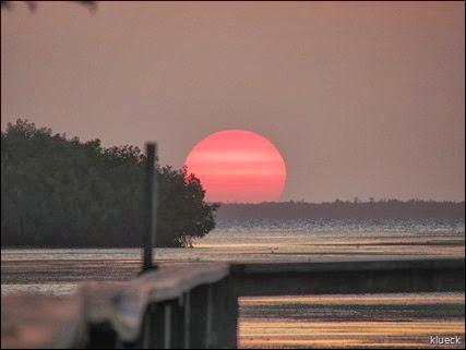sunset at sunshine key marina