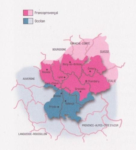 Mapa lingüistica de Ròse-Alps