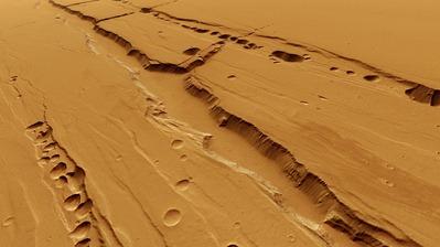crateras em Tharsis