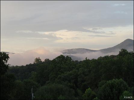 Rivers Edge II, clouds on mountain