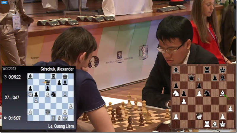 Le vs Grischuk in game 4, round 3, FIDE World Cup 2013