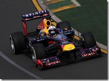 Vettel nelle prove libere del gran premio d'Australia 2013