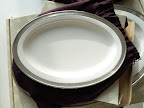 An oval-shaped platter like this one from Match Pewter would be great for serving so many things (match1995.com).