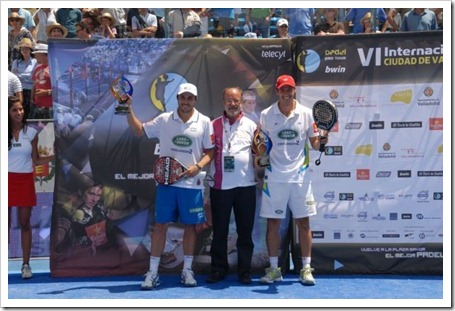 Navarro-Reiter y Belasteguin-Díaz levantan el título en el Bwin PPT Ciudad de Valladolid.