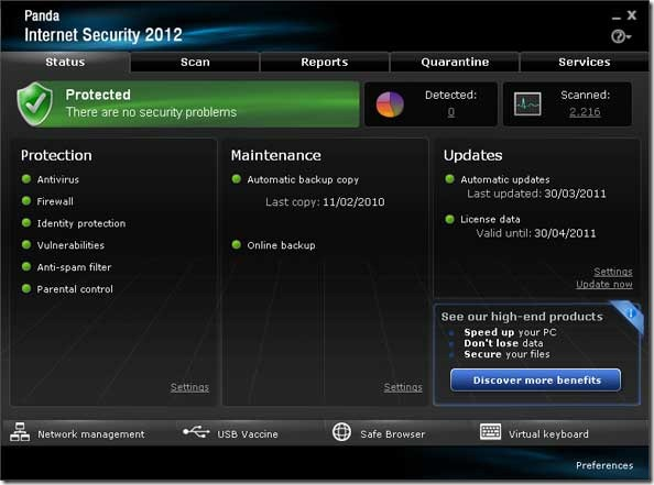 Panda Internet Security 2012 free license