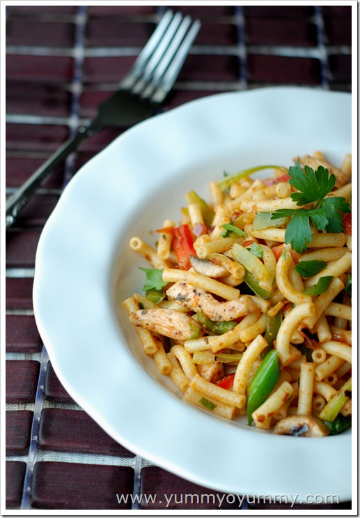 Spicy pasta - Indian style