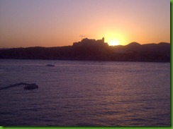 Ibiza at sunset