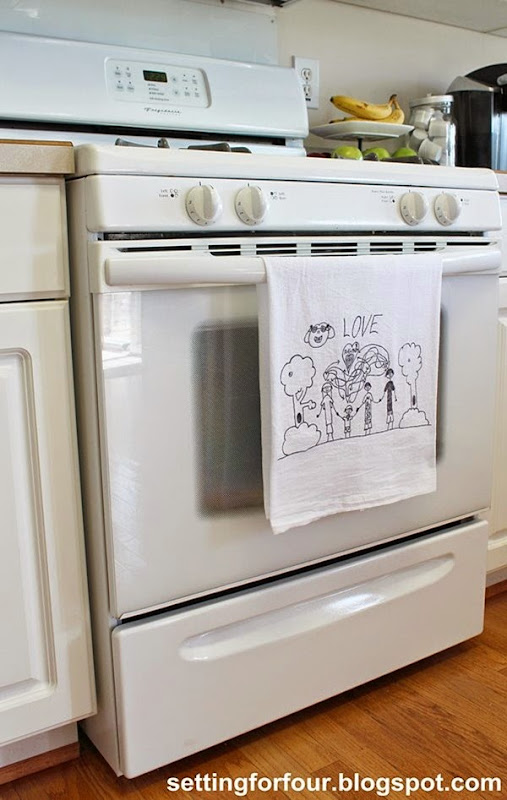 Great gift idea! Make DIY tea towel from Kids Art!