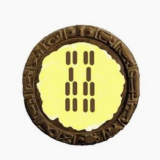 O simbolo de Ifa Ika Meji - odu- meridilogun