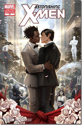 gay wedding - marvel