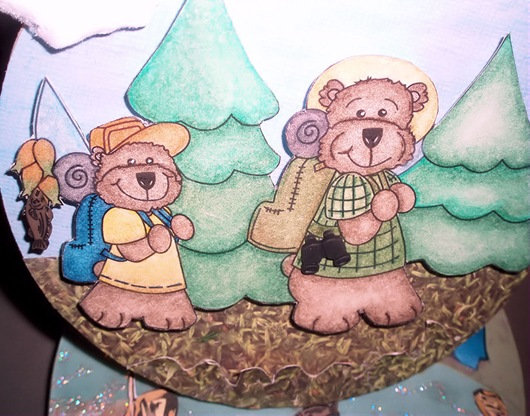 Camping Scene Card_Bears Closeup