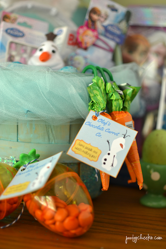 Olaf's Chocolate Carrot Co. Printables and FROZEN Easter Basketa