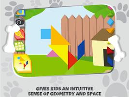 Screenshot of Kids Tangram Puzzles: Dogs