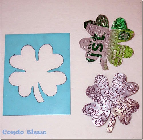 aluminum can stencil shamrocks