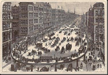 Di new york sudah ada bahkan pada masa masih digunakannya kereta