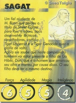 Sagat 2 - Card Street Fighter Zero 2