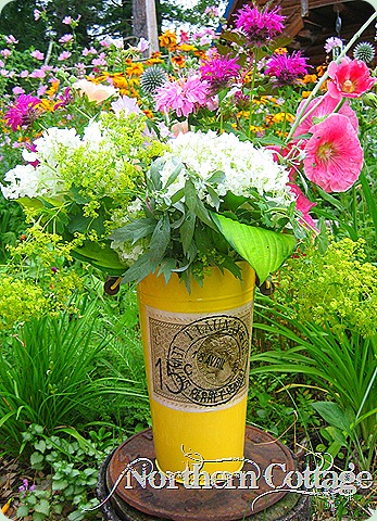 yellow flower bucket