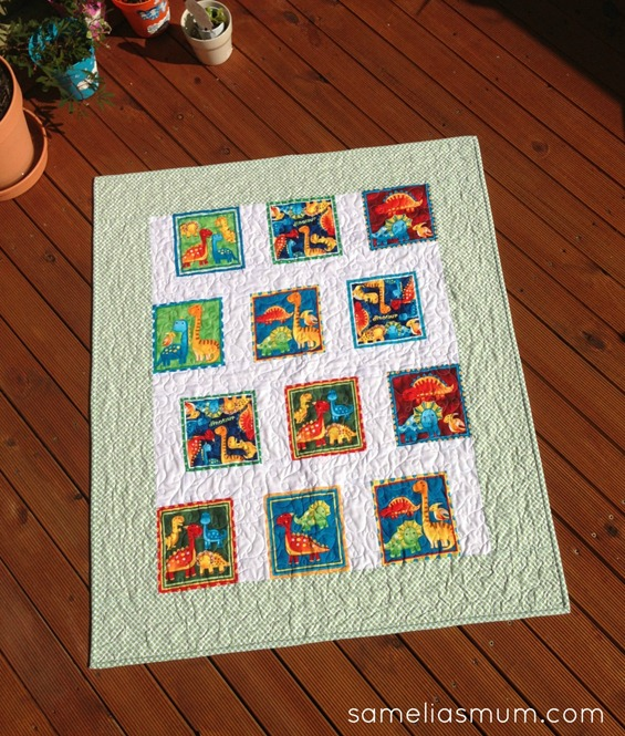 Baby Dino Quilt 3