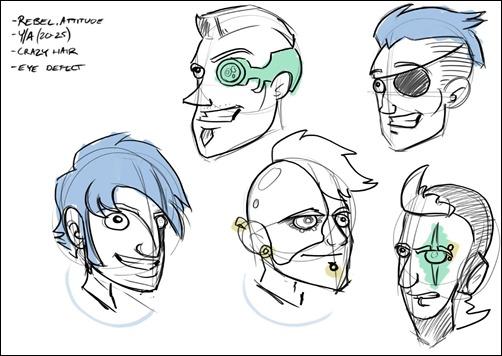 Character Design Jazza : Digital evolutions robot concept design