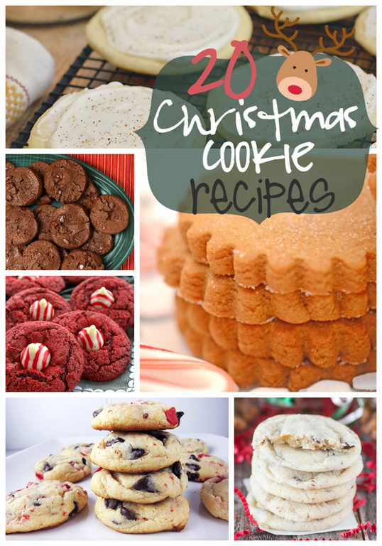 20 Christmas Cookie Recipes at GingerSnapCrafts.com #gingersnapcrafts #linkparty #features