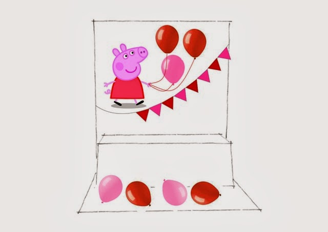 Peppa pig - Decorazione sala