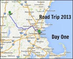 Many Waters Road Trip 2013 Boston MA to Keene NH Day One