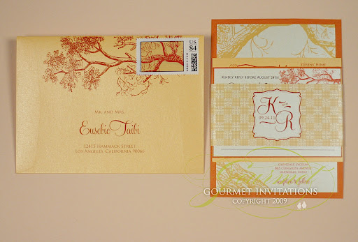 Kathleen Richard Autumn Tree Wedding Invitations