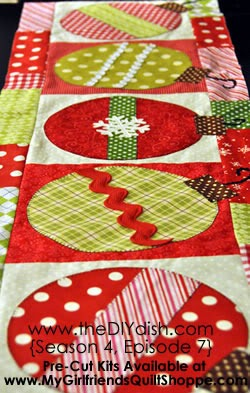 ornament table runner tutorial