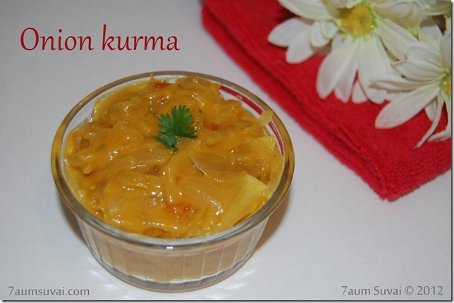 Onion kurma